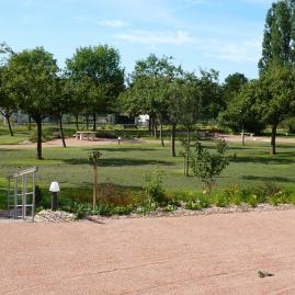 Jardin de l'hôpital de Bourg Achard Vue sur les arbres