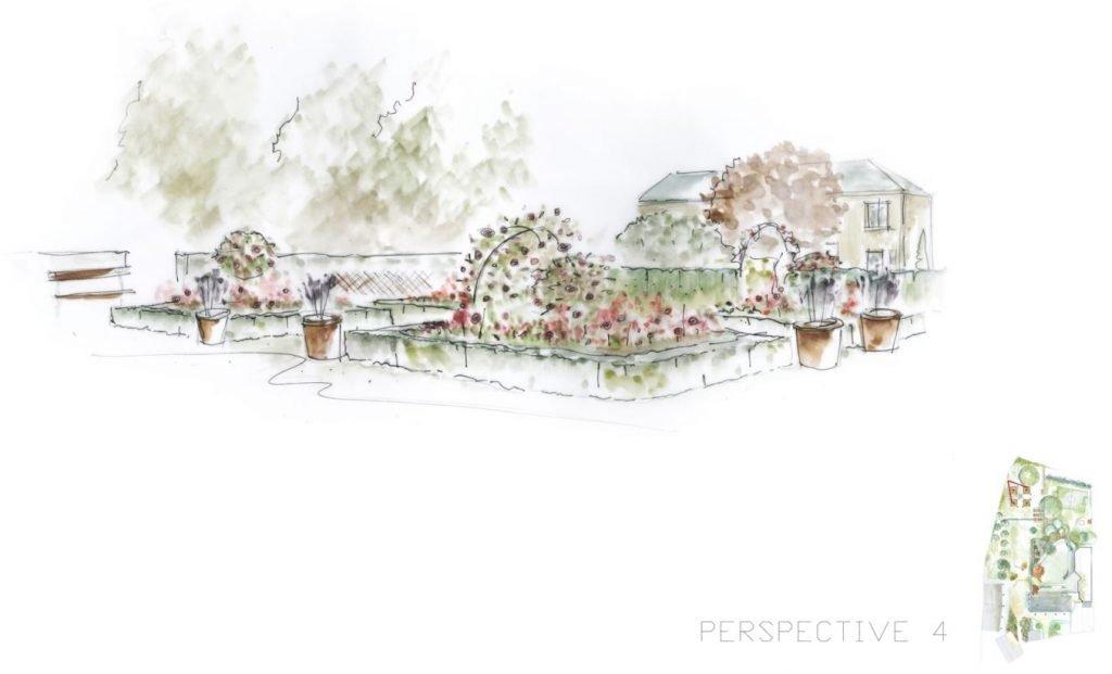 Plan 02 Perspective 4 - réalisation de jardin en Normandie